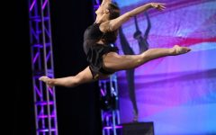 Holt dancing at Nationals in New York City.