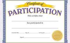Participation awards and certificates are given out at so many events, not just in sports.
