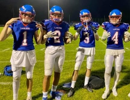 One. Two. Three. Four. These four best friends and teammates were close both on and off the field. #1 is Aiden O