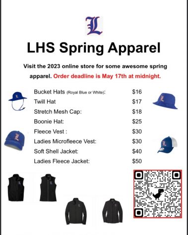 The class of 2023 will be holding an LHS apparel fundraiser closing on May 17 at midnight.