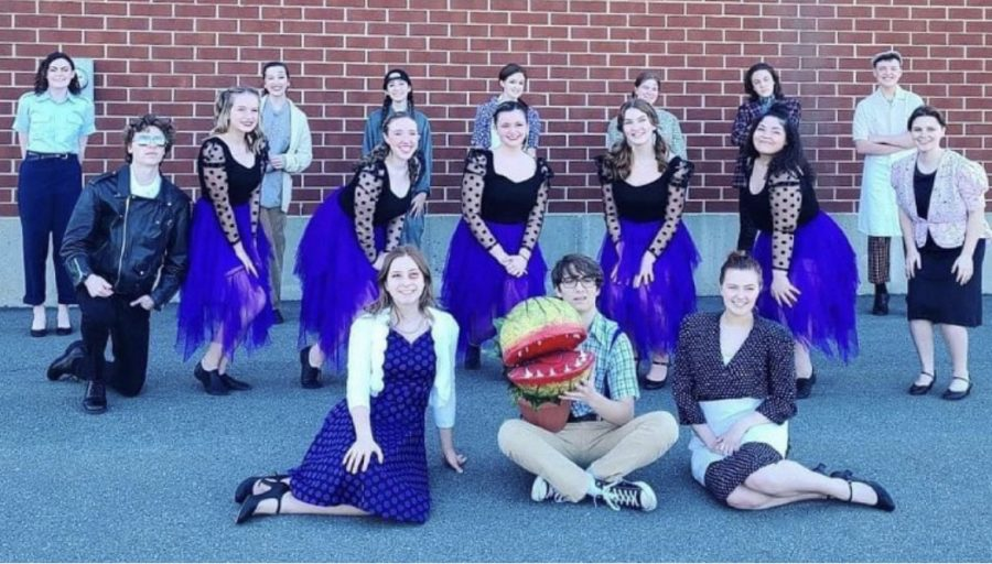 The cast of Little Shop of Horrors poses as they wrap up filming of their virtual musical