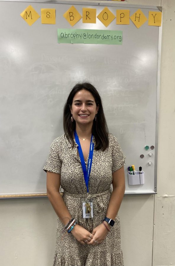 """Ms. Brophy, new Math teacher at LHS, hopes to share her """"passion for math with students with students who don't always like it."""""""