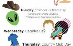 LHS 2021 spirit week schedule.