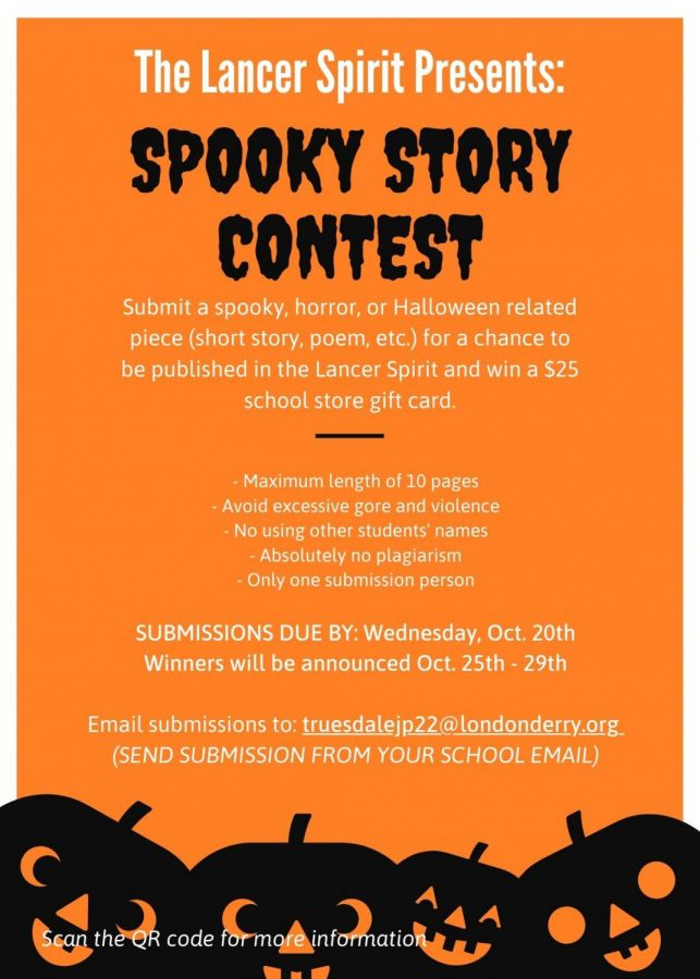 The+2021+Lancer+Spirit+Spooky+Writing+Contest+is+now+accepting+submissions+until+Oct.+20.