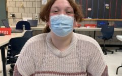 Kaylie Donahue adheres to the new schoolwide mask mandate.