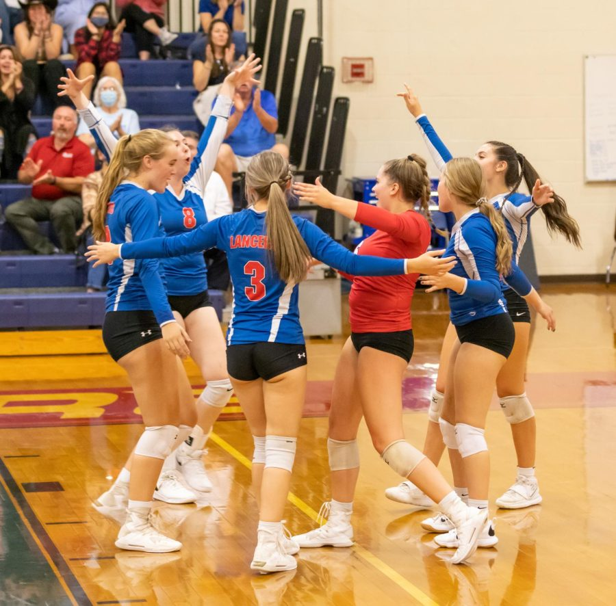 The Londonderry Volleyball team takes a 3-1 win vs. Goffstown.